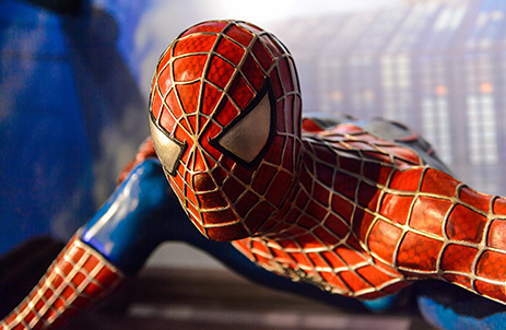 Spider Man statue closeup