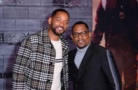 Will Smith and Jason Lawrence at premier of Bad Boys For Life movie