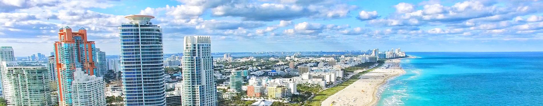Miami Beach overhead image of coastline
