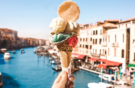 Gelato cone in Venice, Italy
