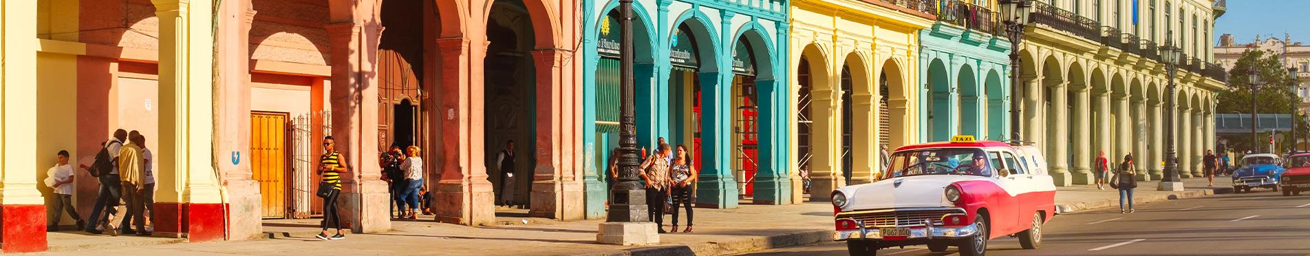 Colourful buildings in Havana Cuba