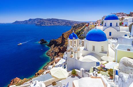 Views from Oia in Santorini Greece