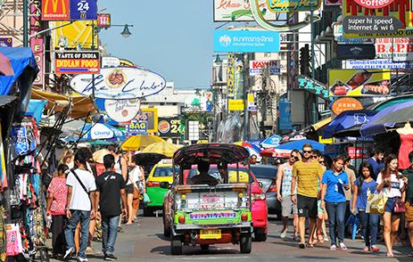 Tuk Tuk in Koh San Road, Bangkok