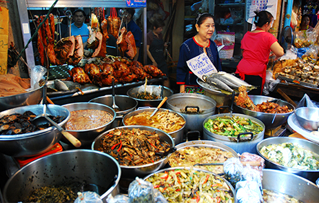 Street food stands in Phuket
