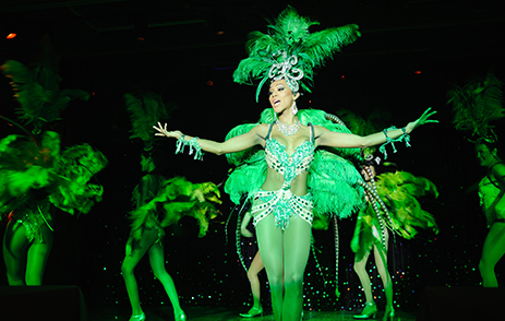 Ladyboys performing on stage in Phuket