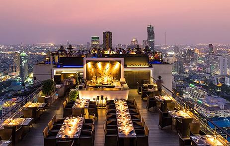 Vertigo and Moon Bar Rooftop restaurant and bar at Banyan Tree Bangkok