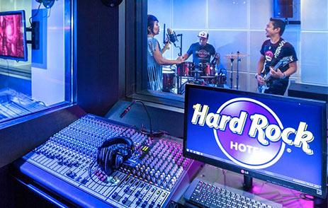 Recrding Studio within Hard Rock Hotel