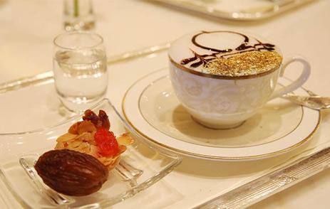 24-carat gold cappuccino at Emirates Palace Abu Dhabi