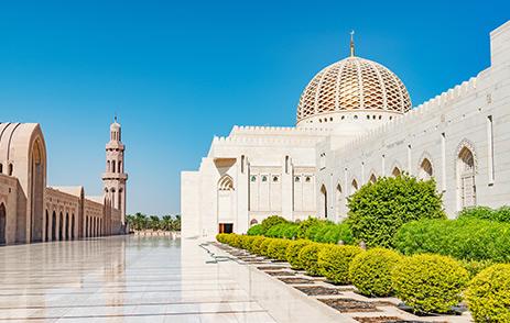 Sultan Qaboos Grand Mosque in Muscat Oman