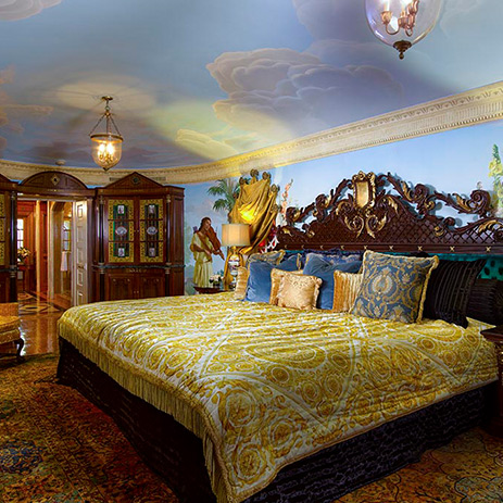 A Bedroom Inside Versace's Mansion In Miami