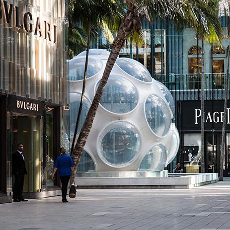 Bvlgari shop front Miami Design District