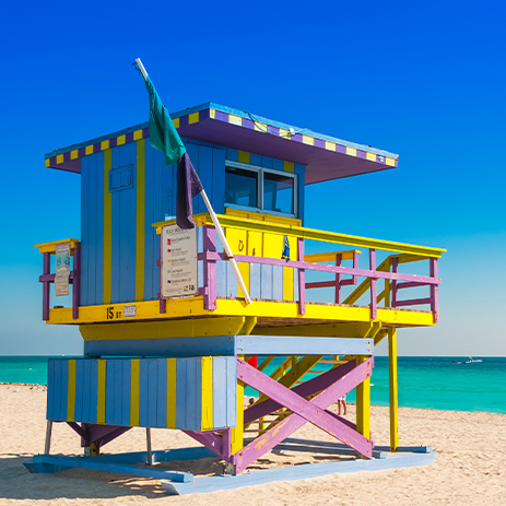 Lifeguard Tower on Miami Beach