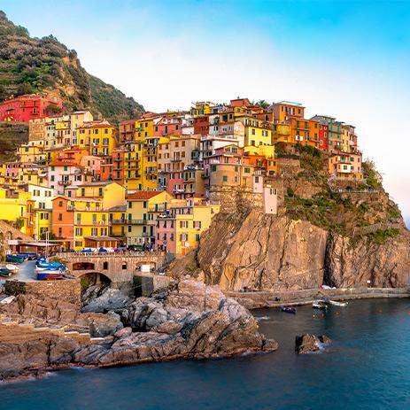 Pretty houses in Positano on Italy's Amalfi Coast