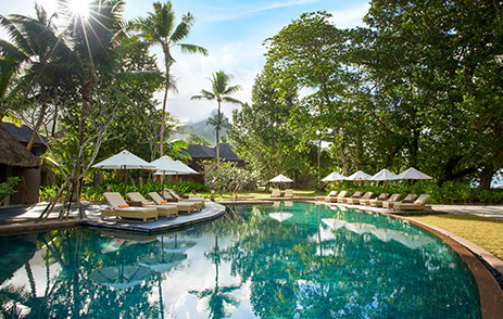 Swimming pool at Constance Ephelia Hotel, Seychelles