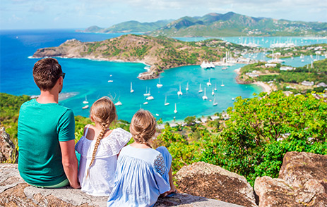 View of English Harbour from Shirley Heights, Antigua