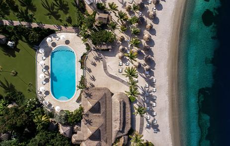 An ariel view of Sugar Beach, A Viceroy Resort