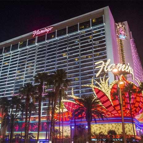 Outside The Flamingo, Las Vegas in 2020