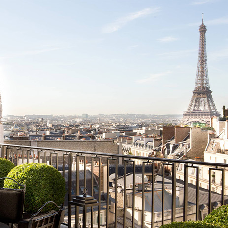The Penthouse Terrace at Four Seasons Hotel George V