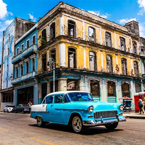 Classic Car in Havana Old Town, Cuba