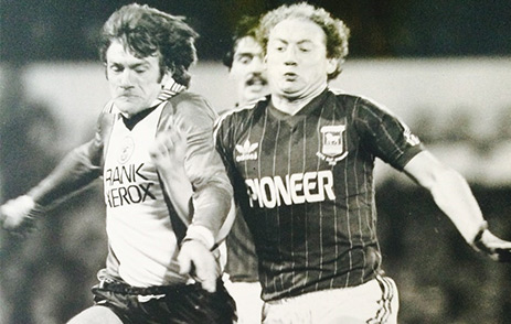 Alan Brazil playing for Ipswich Town FC