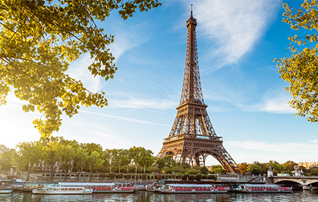 Eiffel Tower in Paris during spring