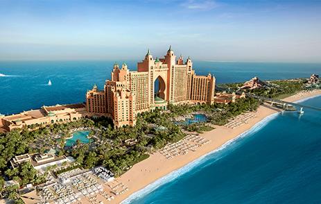Atlantis The Palm Hotel Exterior On Palm Jumeirah Dubai