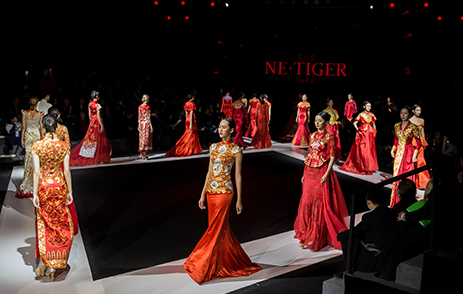 Fashion show catwalk in Shanghai